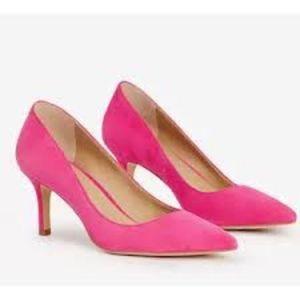 Ann Taylor Pink Magenta Eryn Suede Heels Pumps